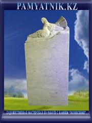 Памятники из белого мрамора с рельефом. Цена 42000 тг. - Кокшетау - foto 0