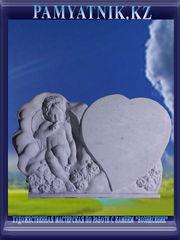 Памятники из белого мрамора с рельефом. Цена 42000 тг. - Кокшетау - foto 3