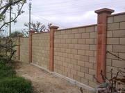 Строительство забора из кирпича и блока. - foto 0