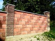 Строительство забора из кирпича и блока. - foto 1