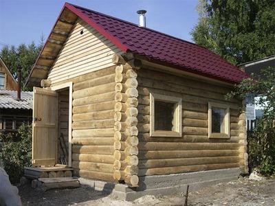 Строительство бани из блока,  сруба и бруса. - main